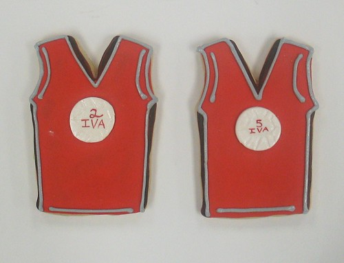 [Image from Flickr]:VolleyBall Jersey Cookies