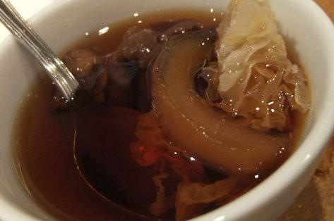 White Fungus and Sea Coconut Soup