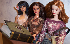 barbies as charmed (plumaluna07@sbcglobal.net) Tags: dolls barbie paige phoebe piper charmed halliwell