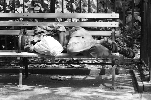 Homeless nap.