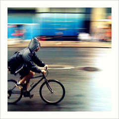 Riding in the rain in NYC. Photo: sionfuliana on Flickr