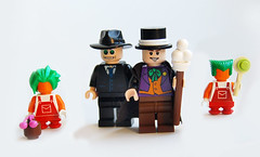 Willy Wonka & his employees (Craig 'Lego' Lyons) Tags: mike tv bucket factory lego chocolate salt violet grandpa charlie wonka willy veruca loompa oompa gloop lumpa umpa teeve