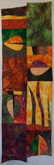 Autumn leaves (jeanneaird) Tags: artquilt couching handdyedfabric