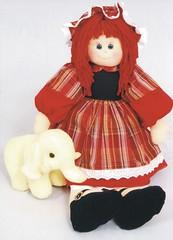Boneca Lisa e Elefante - A59 (Moldes videocurso artesanato) Tags: lisa e boneca elefante a59