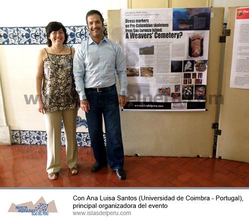 Con Ana Luisa Santos (Universidad de Coimbra - Portugal), principal organizadora del evento