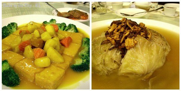 Braised Beancurd Combination & Stewed Cabbage With Dried Scallop and Mushroom