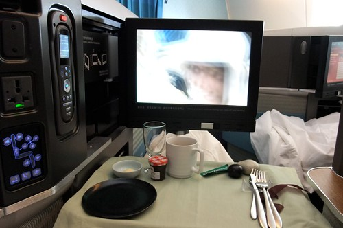 Dining 35,000 ft in the air