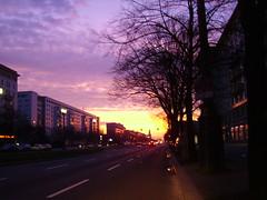 dawn - karl marx allee (ÇaD) Tags: city berlin sunrise dawn chad karlmarxallee cagdas ozturk deger cagdasdeger