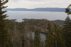 Granite Lake and Lake Tahoe (Emerald Bay, California, United States) Photo