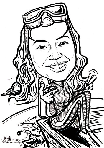 Caricature for IHG - diver
