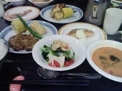 菅平での夕食