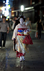 one evening in Gion #13 (Onihide) Tags: japan evening kyoto explore maiko geiko geisha gion   apprenticegeisha kagai koyoshi homersiliad travelsofhomerodyssey homersbeautyofwoman onihide