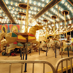 Carousel Of Lights [explored} (red_dotdesign) Tags: horses toronto colour lights empty cne merrygoround sigma1020mm