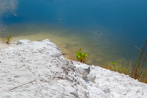 Klondike Park, in Saint Charles County, Missouri, USA - white sand and blue water