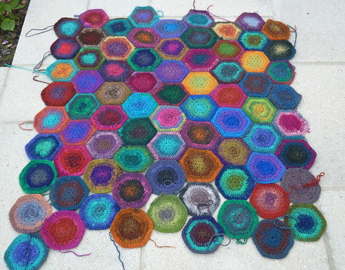 Hexagon Blanket - Sept 09