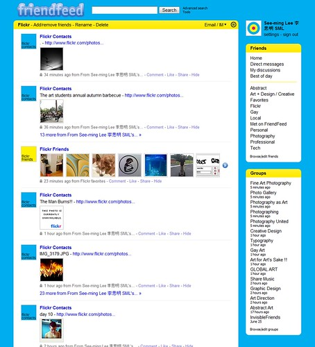 SML Friendfeed Flickr Feed / 2009-09-10 / SML Screenshots (by See-ming Lee 李思明 SML)