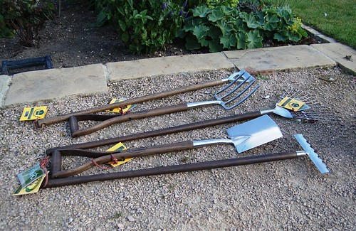 Child-sized garden tools