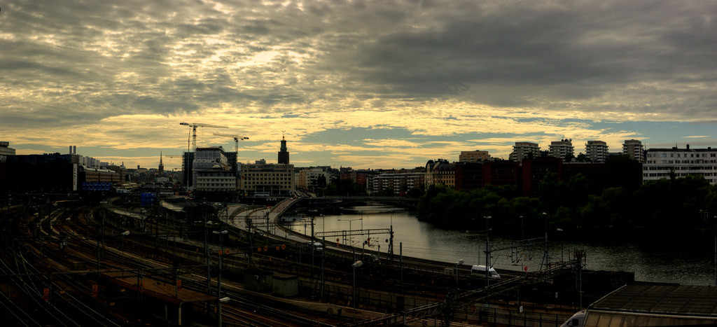 Stockholm: A View from Kungsholmen Bridge