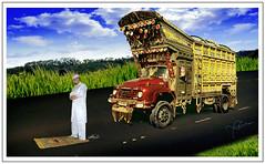 Prayer Time (Yasin Hassan ياسين حسن) Tags: road pakistan sky car clouds truck highway contest eid ali kuwait punjab yasin ramdan prayertime fitar jaenamaz