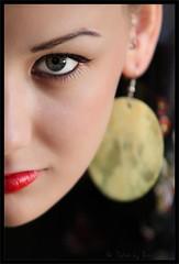 Zsu 5 (Mix Master B) Tags: portrait woman eye girl face model flash stare redlips zoomlens earing halfface portraitphotography zsu ef70200mmf28lusm 580exii brandonswartz canon5dmkii mixmasterb