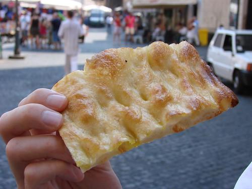 Pizza bianca from Forno Campo de' Fiori