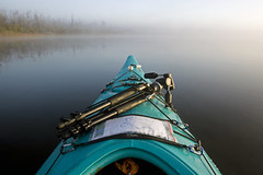Foggy Morning Day Trip (Emery O) Tags: lake fall wisconsin canon kayak kayaking l daytrip necky 1635mm 50d narpa