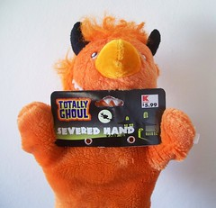 Totally Ghoul! (helixdmonster) Tags: orange monster puppets helix handpuppets severedhand creepyhands monsterhandpuppets helixdmonster