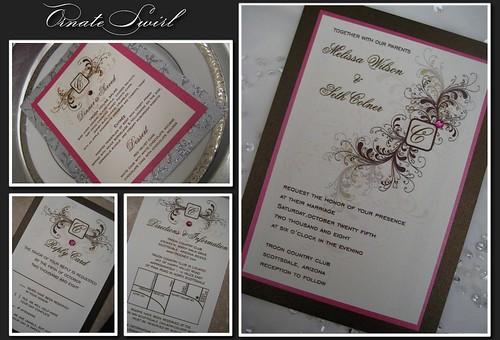 Ornate Swirl Invitation