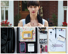 Jen Diptych (J Trav) Tags: portrait pen bag notebook keys persona interesting nikon diptych jen wallet makeup pins businesscards whatsinyourbag charger earbuds iphone clipboard d40 macbook theitemswecarry