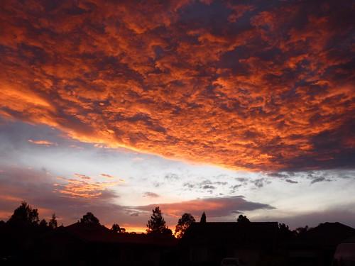 Sunset over Western Sydney