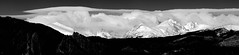 Cumulus & Pileus Clouds (Bryce Bradford) Tags: red bw panorama white storm black mountains green clouds rocky olympus filter cumulus polarizer 70300mm lenticular zuiko circular flatirons cirrus pileus f456 e520