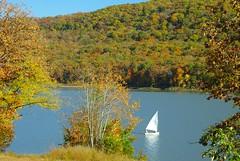 An Autumnal Sail (DGS Photography) Tags: arkansas ozarks lakefortsmithpark urvision autumnsailboat