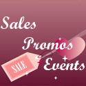 sales, promos, events