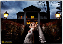 Love and Mansions (Ryan Brenizer) Tags: wedding portrait ny halloween groom bride nikon upstate mansion d3 washingtonville roundhill strobist 2470mmf28g flashcomposite