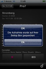 T-Home Entertain Programm-Manager: Stromberg