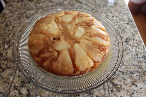 carmelized pear upside down cake