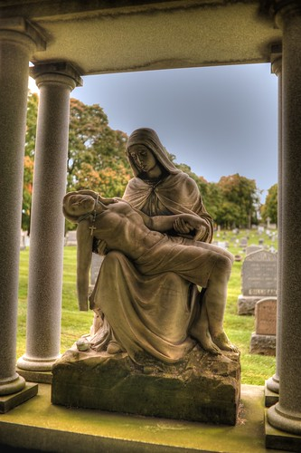 Pieta at St. Agnes Cemetery, Albany, N.Y.  Photo by Chuck Miller.