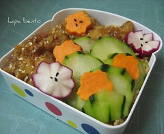 "Orange ""Chicken"" Snack Bento (hapa bento) Tags: lunch vegan vegetarian bento seitan bentobox wheatmeat bentolunchbox bentoboxlunch hapabento"