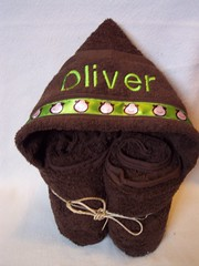 green monkeys (spiritofgiving) Tags: towels custom personalized hooded