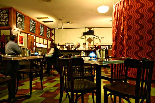 Inside Modern Cafe