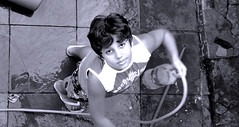 # Sister Playing (Carlos Fachini ) Tags: pictures people blackandwhite playing black branco photography pessoa child sister sony imagens images preto photograph irmo click criana fotografia photograpy w130