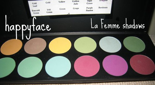 Purples and Greens Palette (La Femme shadows)