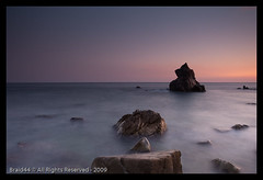 Mare Nostrum ( Pere Soler) Tags: sea night canon noche mar rocks mediterraneo purple silk nocturna 5d seda costabrava nit tripode vosplusbellesphotos authorsclub wwwperesolernet