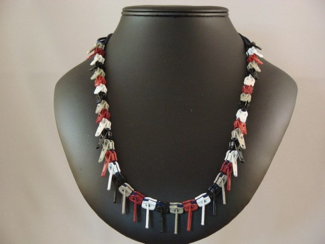 Zipper pull necklaces by Louise Loewenstein 4