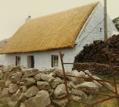 Peat Burning Cottage (Adobepillow) Tags: europe stones cottage peat thatch 1970 thatchroof