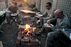 Thanksgiving on Combat Outpost Cherkatah, Khow...
