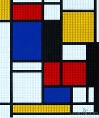 Copia d'arte Lego -Omaggio a Piet Mondrian