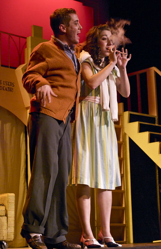 Kate Greenspan/Foghorn Did she inhale? West Seegmiller and Deidre Doyle star in USF's poduction of the popular musical Reefer Madness.