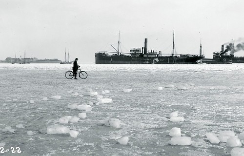 Bicycle on Winter Ice in 1922