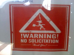 no solicitation (upyernoz) Tags: sign stickfiguresinperil nosolicitation